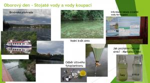 """Projekt """"Voda kolem nás"""" - oborový den Stojaté a koupací vody"""