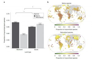 Representation of mycorrhizal plants in naturalized floras