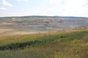 Těžbou narušená krajina v okolí města Sokolov, SZ České republiky