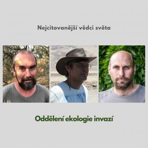 Oddělení invazní ekologie - nejcitovanější vědci světa
